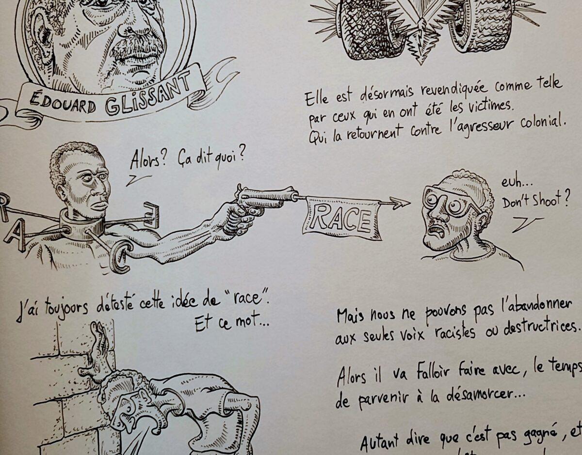 BLAN (1) : l' autobiographie graphique d'un blanc  en territoire noir  ou …   le » créole du futur» !
